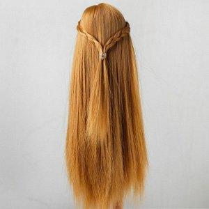 Волосы для кукол «Прямые с косичками» размер маленький, цвет 27