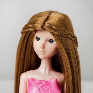Волосы для кукол «Прямые с косичками» размер маленький, цвет 24
