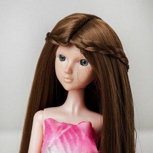 Волосы для кукол «Прямые с косичками» размер маленький, цвет 18Т