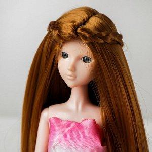 Волосы для кукол «Прямые с косичками» размер маленький, цвет 16А