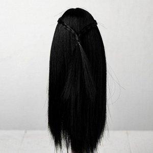 Волосы для кукол «Прямые с косичками» размер маленький, цвет 1