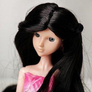 Волосы для кукол «Волнистые с хвостиком» размер маленький, цвет 2В