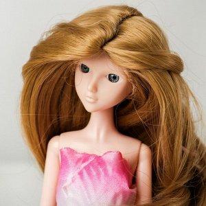 Волосы для кукол «Волнистые с хвостиком» размер маленький, цвет 24