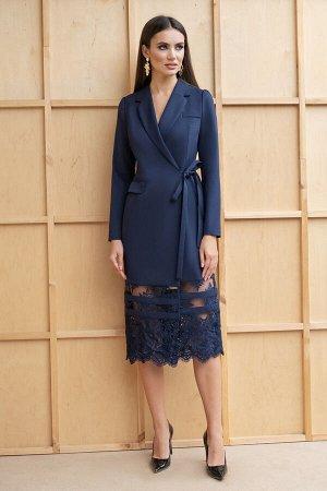 Платье Платье ЮРС 19-151/3  Состав ткани: Вискоза-67%; Спандекс-4%; Нейлон-29%;  Рост: 164 см.  Это платье, ода нежности и женственности, не оставит никого равнодушным. Женщина в таком платье выгляди