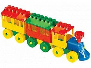 Конструктор - Паровоз с двумя вагонами 2044 (1/30)