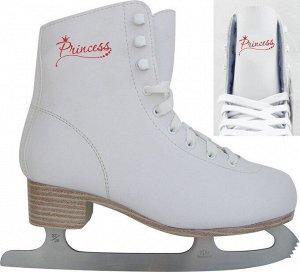 Коньки фигурные белые Princess PW-215-2 р.26 (1/6)