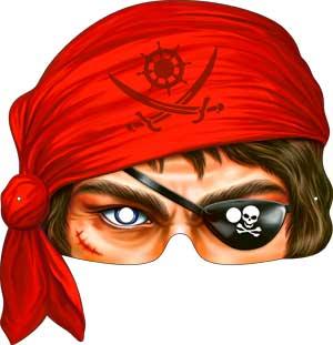 """Картонная маска """"Пират"""""""