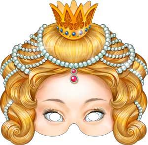 """Картонная маска """"Принцесса"""""""