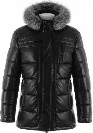 Мужская зимняя куртка из PU-кожи DC-1907 на 58 р.