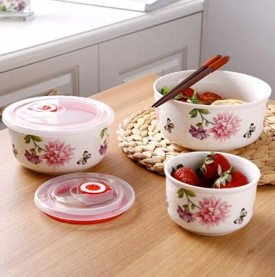 😱МЕГА Распродажа !Товары для дома 😱Экспресс-раздача! 24⚡🚀 — Набор Салатников - ХИТ — Посуда