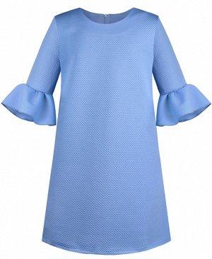 Голубое платье для девочки 80773-ДН19