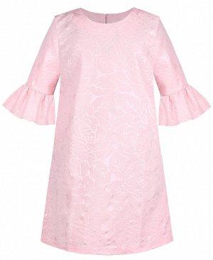 Розовое платье для девочки 80772-ДН19