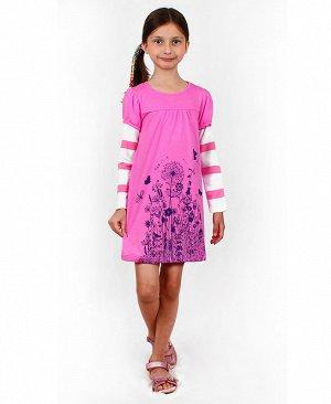 Платье с длинными рукавами для девочки 84012-ДЛО19