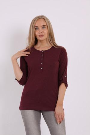 Блузка женская 5020-013 темно-бордовый