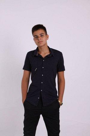 Рубашка мужская 1701-013 антрацит