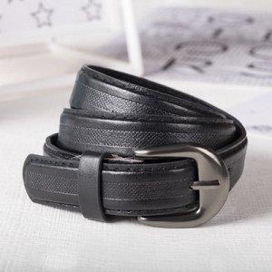 Ремень детский Полосы 75-90*0,3*2,2 см, перфор, винт, пряжка металл, черный