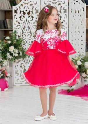 Сесиль нарядное платье малиновый
