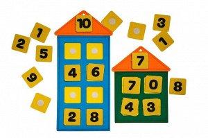 Числовые домики из фетра