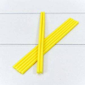 """Клей """"Термопластичный"""" (палочка) Жёлтый 0,7см*25см"""