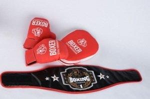 Боксерский набор (пояс,перчатки, лапа)