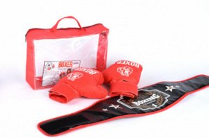 Боксерский набор (пояс,перчатки)