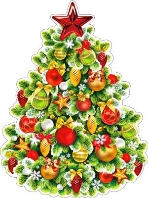 """Плакат """"Новогодняя елка"""""""