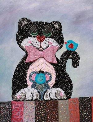 """Набор для творчества """"Мозаика из пайеток на холсте """"Кошки-мышки"""""""