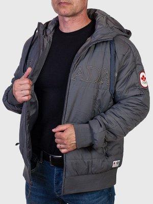 Темно-серая мужская куртка CANADA  №223