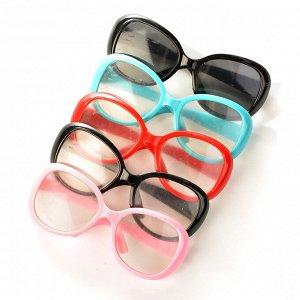Очки со стеклом арт.КЛ.20261 8,5см, пластик цв.ассорти уп.5шт