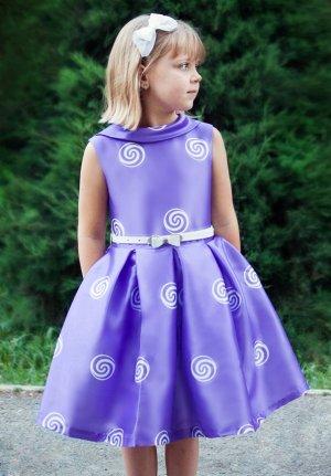Платье Количество в упаковке: 1; Артикул: СС-П-1850; Цвет: Сиреневый Скачать таблицу размеров                                                 Нарядное платье в стиле « стиляги» выполнено из шелковой