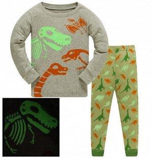 Пижама Пижама трикотаж. По отзывам маломерит, можно взять на 1 размер больше. Светится ночью. 2Т(90 см) 3Т(95 см) 4Т(100см) 5Т(110 см) 6Т(120 см) 7Т(130 см) 8Т(140 см)