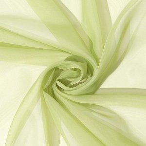 Тюль «Этель» 260?250 см. цвет светло-зеленый. вуаль. 100% п/э