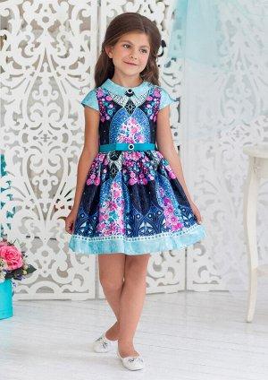 Кимберли нарядное платье бирюзовый