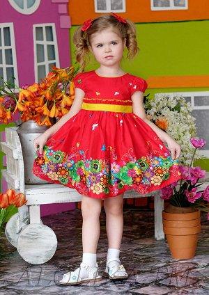 Весняна платье хлопковое красный