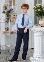 Виконт брюки классические на утяжке цвет неви