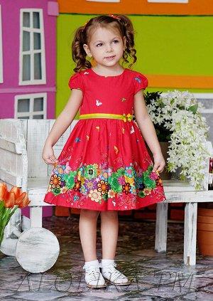 Есения платье хлопковое красный