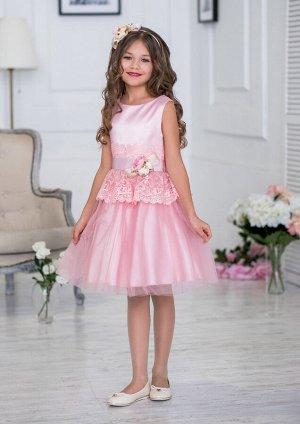 Кристел нарядное платье розовый