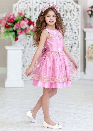 Саманта нарядное платье розовый