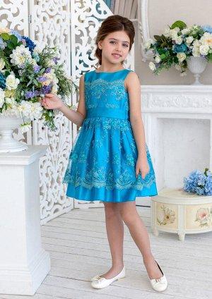 Саманта нарядное платье васильковый