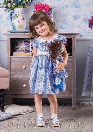 Катюша платье хлопковое голубой