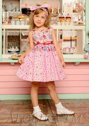 Конфетка платье хлопковое розовый