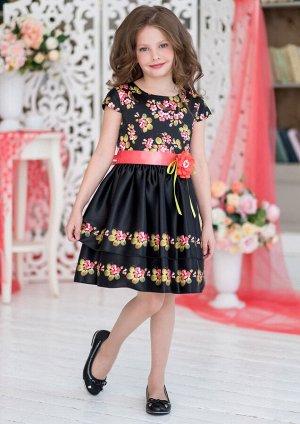 Лекса нарядное платье черный