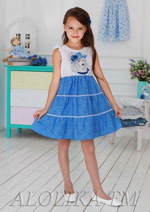 Лизаветка платье хлопковое синий