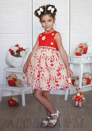 Лучезара платье хлопковое красный