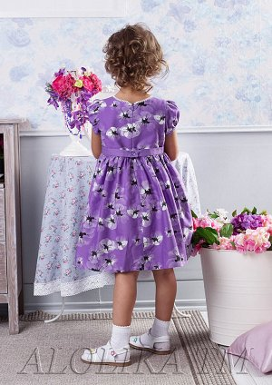 Маковка платье хлопковое сиреневый