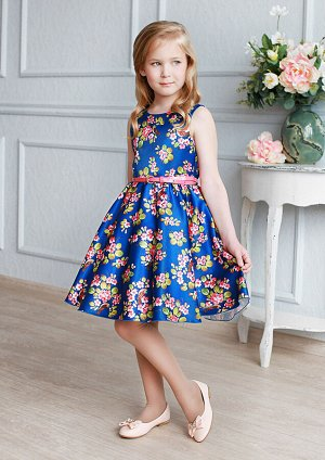 Либерти нарядное платье синий