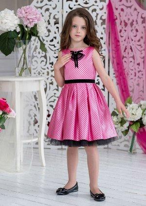 Бабетта нарядное платье розовый