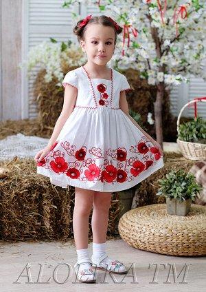Маняша платье хлопковое красный