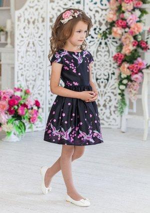 Магдалена нарядное платье черный