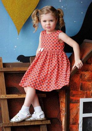 Марья платье хлопковое красный
